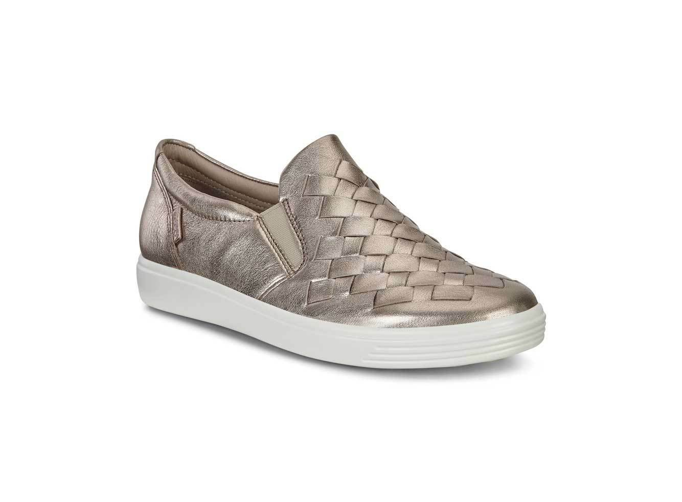 ECCO WOMEN'S SOFT7 LADIES WALKING COMFY SLIP-ON SNEAKER SHOE