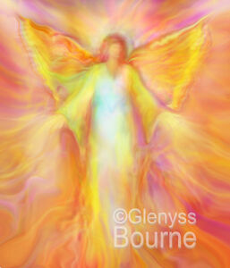 SET-of-9-ARCHANGEL-PAINTINGS-2-5-034-x-3-5-034-ACEO-Signed-Angel-Art-by-Glenyss-Bourne