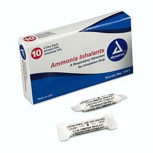 Details about Dynarex Ammonia Inhalants 33 Cc Ampules Smelling Salts #1401