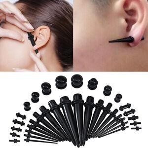 36Pcs-Acrylic-Ear-Gauge-Taper-Tunnel-Plug-Expander-Stretching-Piercing-Kit-Sets