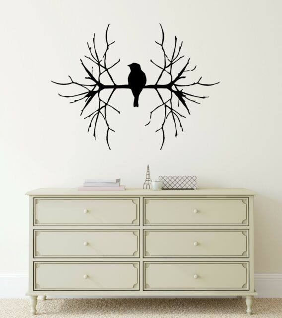 Wall Stickers Vinyl Decal Bird on Branch Tree Nature Excellent Decor (ig763)