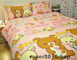 Image Is Loading San X RILAKKUMA Bear BED SHEET 100 Cotton