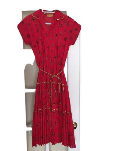 A+ Ranch Maid Western Wear Vintage Dress Size 11/1