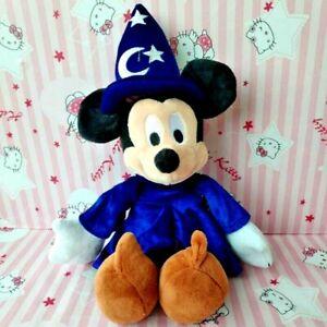Disney-Parks-Mickey-Mouse-Fantasia-Hat-Sorcerer-Wizard-Plush-toy-40cm