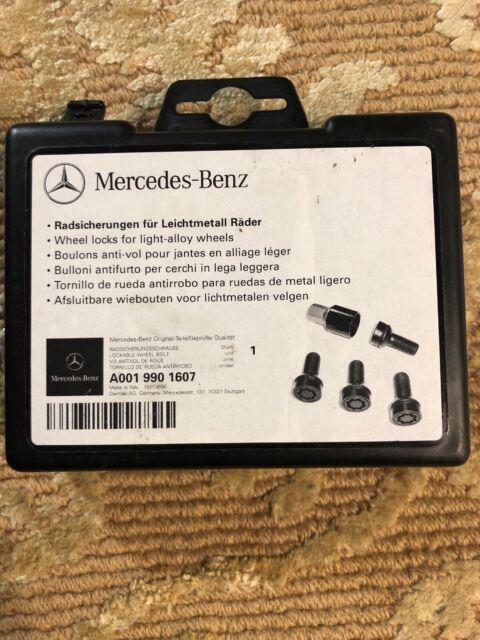 Genuine OEM Mercedes Benz GLA Class X156 Black Wheel Locks