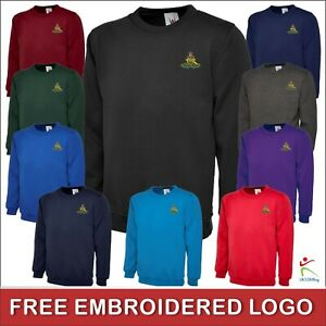 New Royal Artillery Classic Sweatshirt British Army Inspired Embroidered Jumper