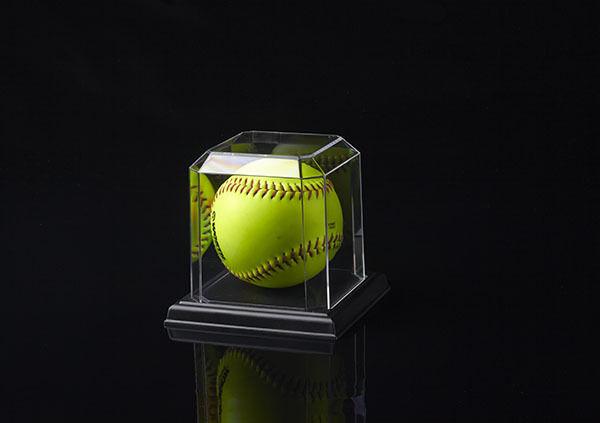Softball vitrines avec  fond noir (18PK)  site officiel
