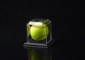 Softball Display Cases w/ Black Base (18PK)