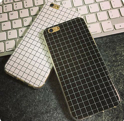 Geometry Grid Pattern Soft Skin Case Cover For Apple iPhone 5 5S 5C 6 6 Plus