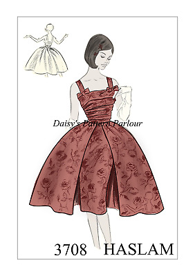 Vintage 1950s Sewing Pattern Wiggle Day Dress Sheath Afternoon Plus 1950 50s