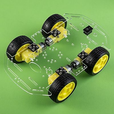 Smart 4WD Car Robot With Chassis And Kit (NEW, USA, ARDUINO)