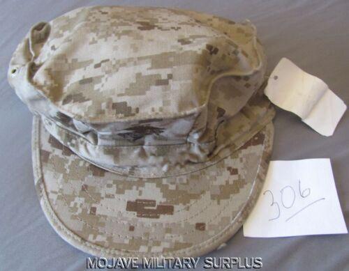 Utility Cover NEW  MEDIUM Desert Digital EGA,8-POINT N.W.T USMC Garrison Hat