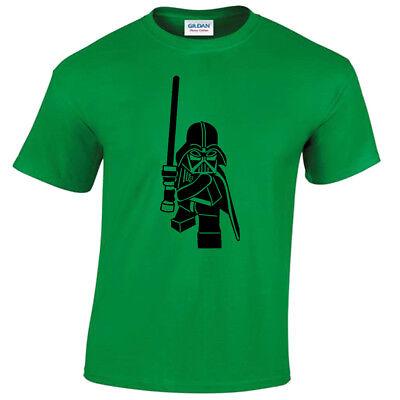 Kids Lego Darth Vader T-Shirt childrens star inspired wars gift jedi sith