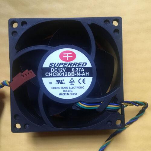 SUPERRED CHC8012BB-N-AH 8038 80mm x 38mm Cooler Cooling Fan DC 12V 0.37A 4Pin
