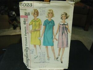 759cac9c0a0 Image is loading Simplicity-6023-Misses-Maternity-Dress-Pattern-Size-14-