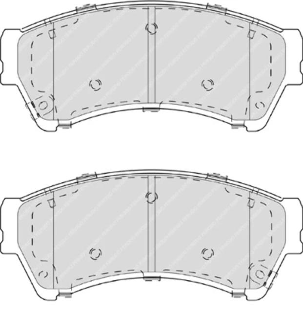 Ferodo FDB4062 Brake Pad Set disc brake set of 4