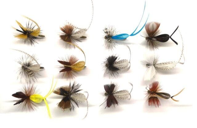 12pcs Trout Salmon Steelhead Fly Fishing Flies Mayfly Dun Spinner NEW