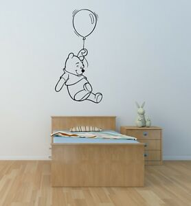 Image is loading Winnie-the-Pooh-wall-art-sticker-children-bedroom- & Winnie the Pooh wall art sticker children bedroom playroom nursery ...
