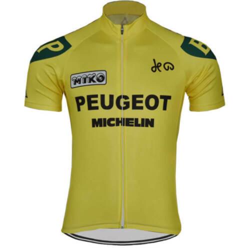 DE PEUGEOT Retro FahrradTrikot Radfahren Kurzarm Rennen Michelin Radtrikot