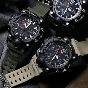 Smael Men S Sports Military Digital Watch Led Dual Display Electronic Wristwatch Ebay
