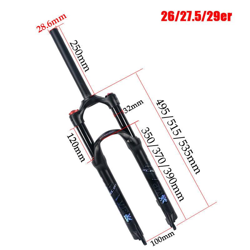 26 27.5  Ammortizzatore Blocco Manuale Forcella Pneumatica Forcelle Forcella MTB