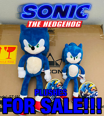 New 2020 Sonic The Hedgehog Movie Plush 7 10 Or 12 15 Original Toy Factory Ebay