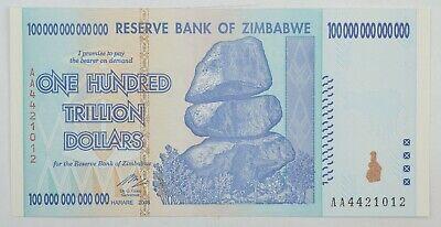 Zimbabwe 10 Trillion Dollar Notes From Orig Pack Authenticity Guaranteed