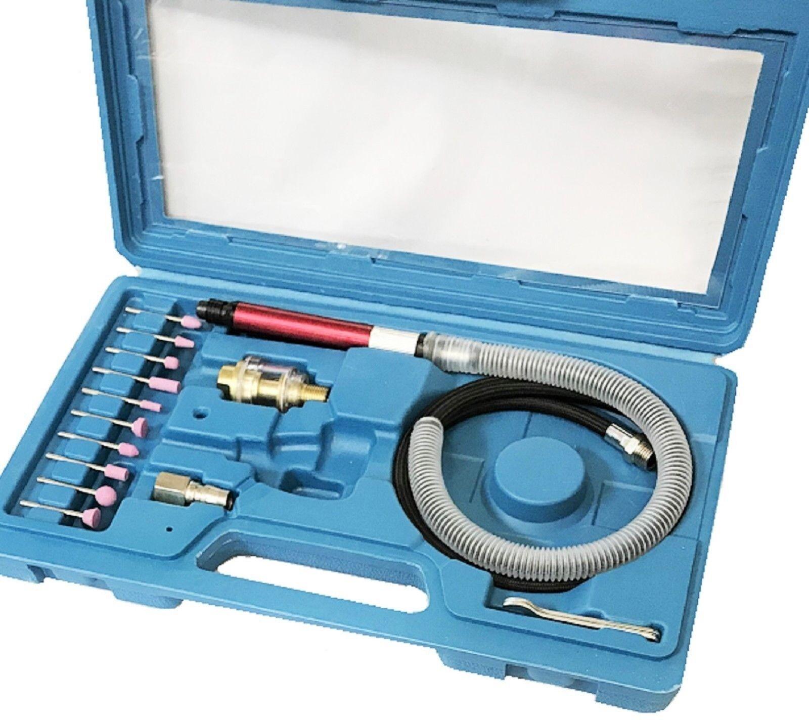 10855 wwu2368 Air Powered Flex Shaft Die Grinder (16 Piece Kit)