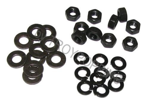 """PLAIN STEEL-10-1//4-20 HEX NUTS /& 10-F436 1//4/"""" ID FLAT /& 10-1//4/"""" ID LOCK WASHERS"""