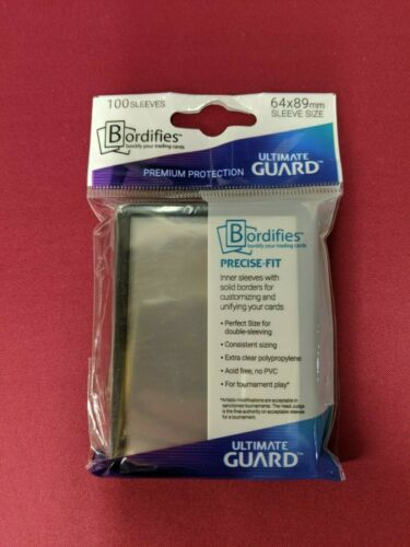 Ultimate Guard 100 Bordifies Perfect Fit Standard Size Sleeves Black UGD010714