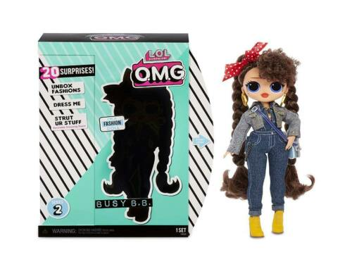 O.M.G Nuovo//Scatola Originale MGA-LOL FASHION DOLL Busy B.B.
