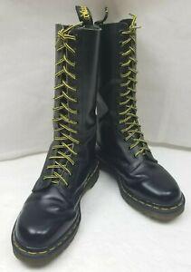 d3a792a6808f Doc Dr Martens 1940 Combat Boots England Mid Calf 14-Eye Black ...