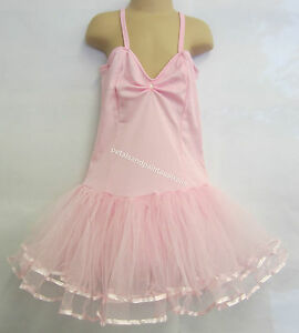 Fairy Dress Ballet Tutu Dance Costume Pink 8-10 Years Polyester Stretch Leotard