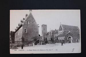 Tarjeta-Postal-Antigua-CPA-Nantes-El-Museo-Dobree-y-La-Casa-Del-Duque-Jean-V