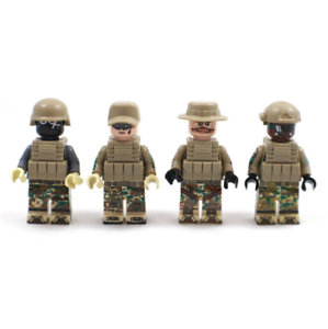 Baukästen Figur Spezialeinheiten Soldat SWAT Waffen Kinder Spielzeug Mini Modell