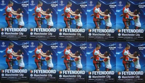 10 x off. Programme UCL 201718 Feyenoord vs Manchester City