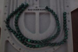 2 Strands of 10mm Malachite Beads – New – 76 Beads
