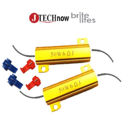 2x 50W 6 Ohm Load Resistor for LED Light Bulbs Fix Hyper Flash, Error Message