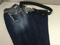 With Tags Women's Miss Me Jeans Size 25 Standard Boot Buckle Exclusive