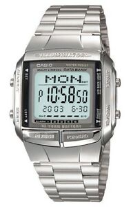 Casio-Watch-DB360-1A-Databank-Digital-Chronograph-Silver-Steel-COD-PayPal