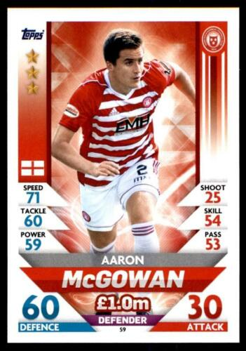 59 Match Attax spfl 2018//19 Aaron McGowan Hamilton Academical no