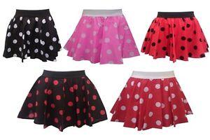 Image Is Loading Girls Kids Polka Dot RockNRoll Poodle Skirt 1950