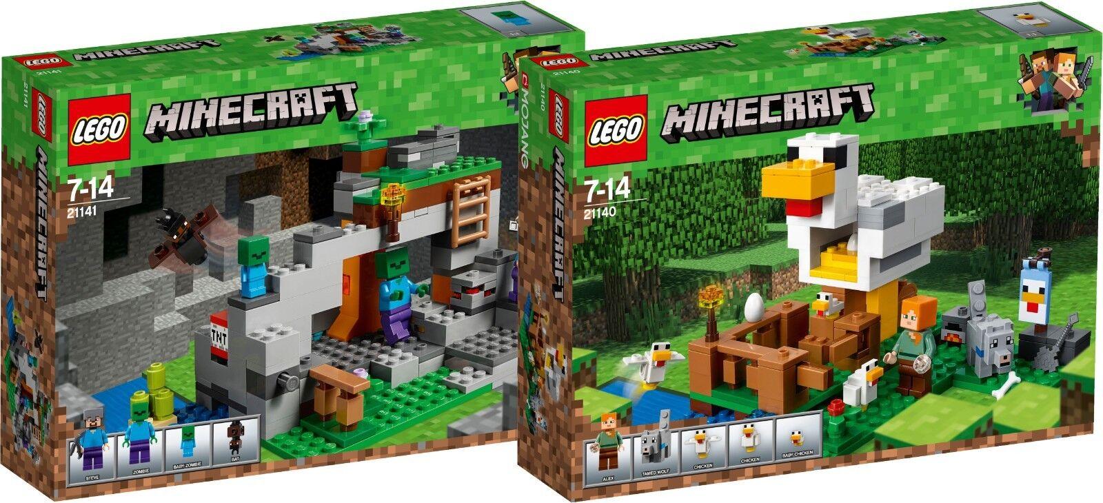 LEGO Minecraft Zombiehöhle 21141 + 21140 Hühnerstall N1 18