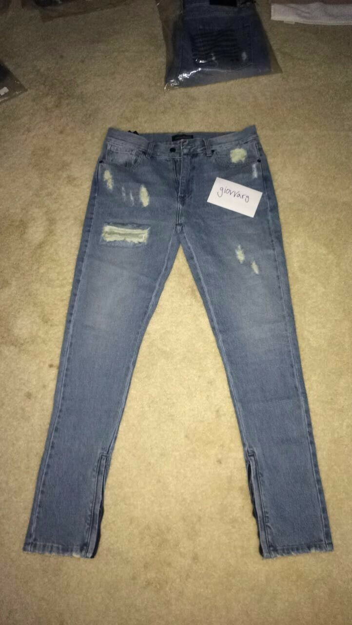 Mens hand distressed bluee jeans bornauthentic brand new with tags