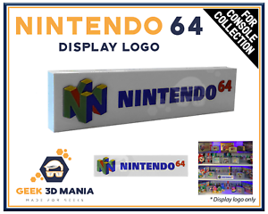 NINTENDO-64-Display-Logo-pour-Collection-de-jeux-videos-Retro-Gaming-Cadeau-Geek