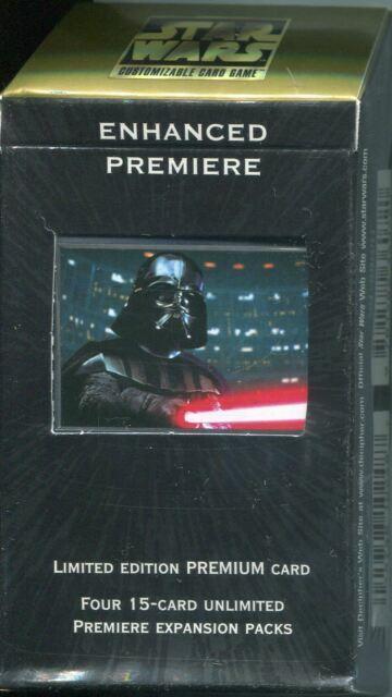 Star Wars CCG Darth Vader With LightsaberEnhanced PremiereNM//Mint Bonus!