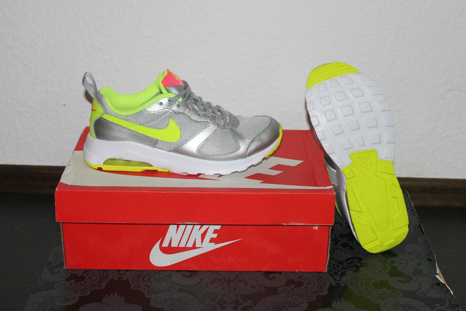 Nike Air Max Muse Damen Running Schuhe Silber Gelb alle Größen Neu mit Karton