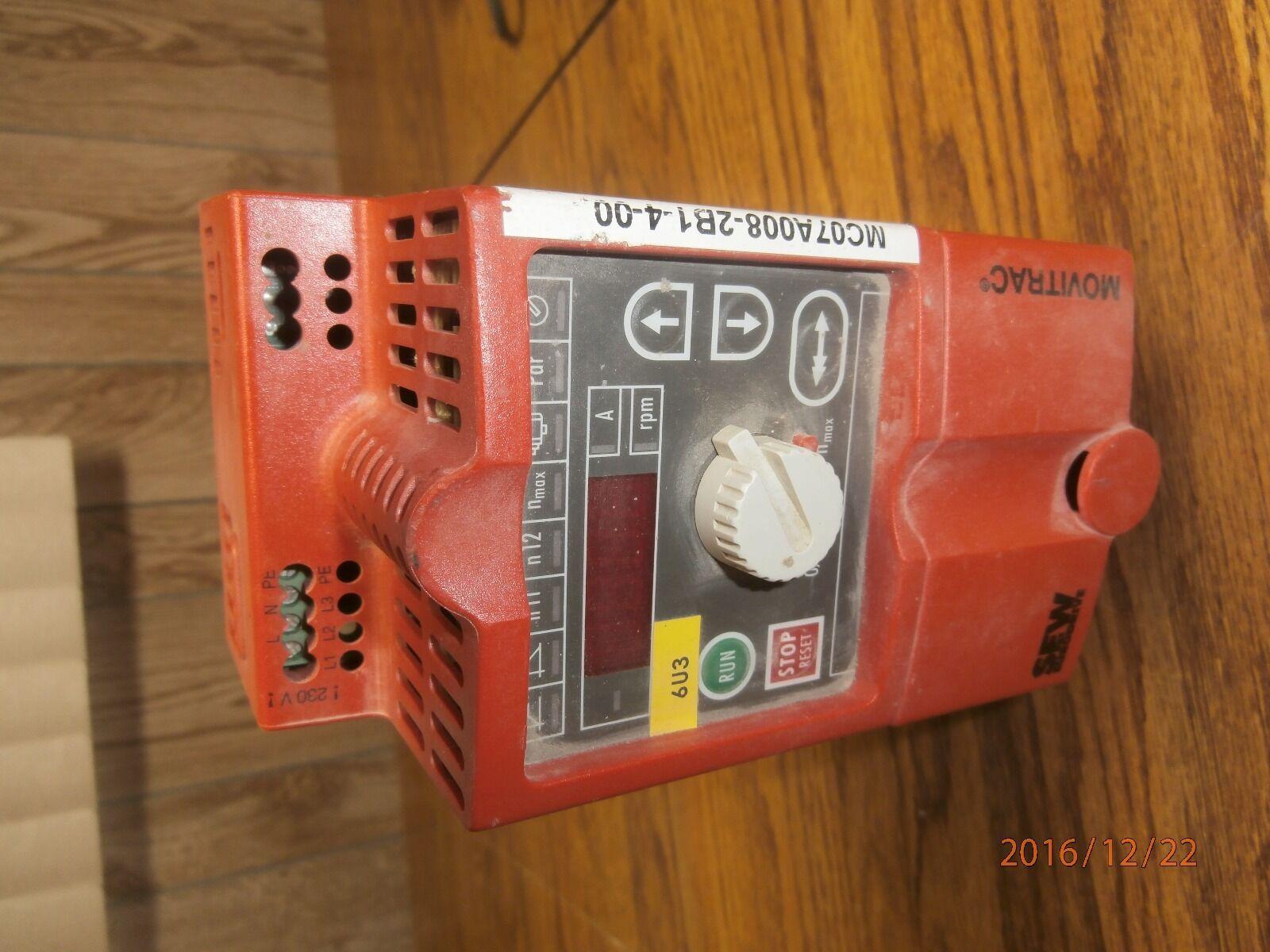 SEW EURODRIVE Typ MC07A008-2B1-4-00 AC Drive 1HP//.75kW 200VAC *Fully Tested*