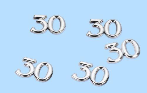 5 x Jubiläumszahl Zahl gold silber 18,25,30,40,50,60,65,70,75,80,85,90 Zahlen