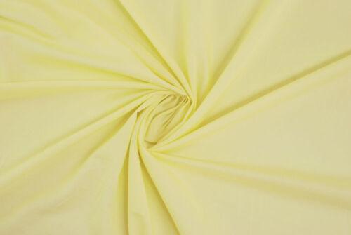 Tela di puro cotone giallo pallido tessuto al metro stoffa a metraggio